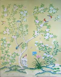 classic elegant hand painted silk wallpaper customized painting