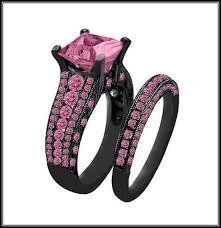 black wedding rings with pink diamonds pink and black wedding rings wedding corners