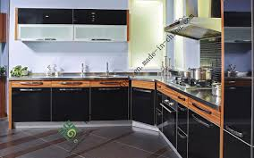 china black mdf pvc kitchen cabinet with cheap price china