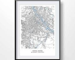 map of vienna vienna map etsy