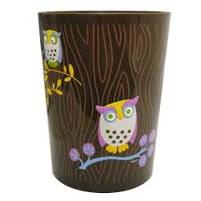 Bedroom Wastebasket Amazon Com Allure Home Creations Awesome Owls Printed Plastic