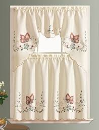 Butterfly Kitchen Curtains by Autumn Kitchen Curtains Amazon Com