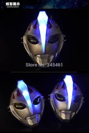 50pcs whole led ultraman masks with light party show halloween