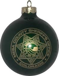 county sheriff logo ornaments