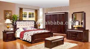 Morden Wood Beds Bedroom FurnitureFull Set Of Solid Wood - Full set of bedroom furniture