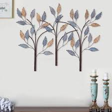 southern enterprises 10 in x 10 in magnolia wall 3 piece metal tree metal wall decor