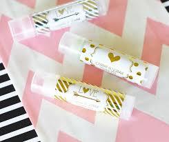 lip balm favors metallic foil personalized lip balm