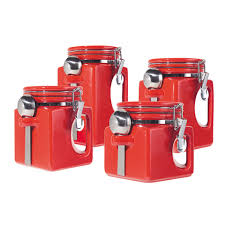 Red Ceramic Kitchen Canisters by 28 Red Kitchen Canisters Set Savannah Red Kitchen Canister