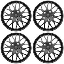 nissan sentra hubcaps 15 inch 4 piece set hub caps matte black 14 u0026 034 inch wheel covers for