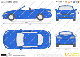 lexus is van the blueprints com vector drawing lexus is 250c
