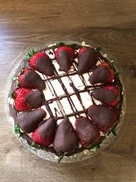 chocolate and vanilla cake with cream cheese filling strawberries