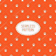seamless pattern with animal footprints cat dog wrapping paper