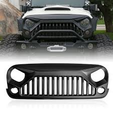 black jeep 2017 gladiator vader front matte black grille for 07 u0027 17 u0027 wrangler