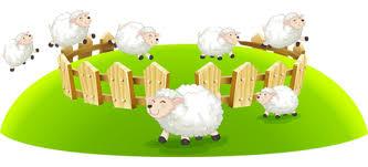 stickers mouton chambre bébé sticker moutons un sticker animaux de la cagne pour chambre bébé