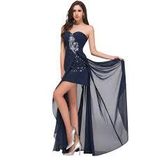 wholesale fast deliver prom dresses 2016 high slit beaded