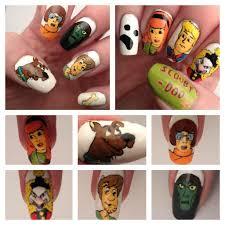 scooby doo nails acrylic paint on natural nails nails