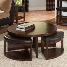 Wood Storage Ottoman by Coffee Table Magnussen T1020 Juniper Wood Round Coffee Table With