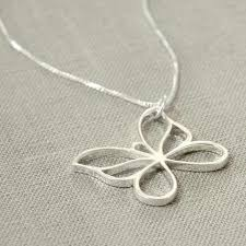 butterfly sterling silver necklace images Sterling silver butterfly necklace handmade by macaroon jewellery jpg