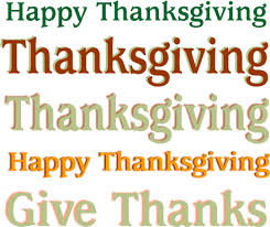 words of thanks thanksgiving word clip