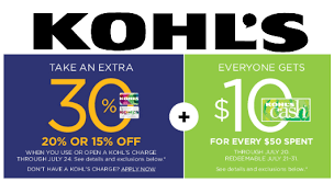 kohls big savings on home back to school thru 7 24