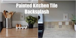 painted kitchen backsplash keep home simple painted kitchen tile backsplash
