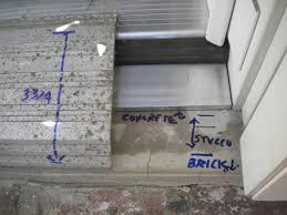 Exterior Door Sills Pouring A Concrete Door Sill Concrete Masonry Diy