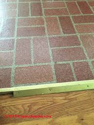 how to identify resilient flooring or sheet flooring that may