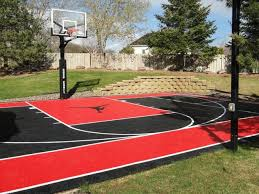 Basketball Court In The Backyard Outdoor Basketball Courts Residential Backyard Basketball Courts