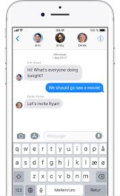 afsendelse af gruppebeskeder på iphone ipad eller ipod touch