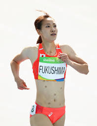 here u0027s why japan u0027s chisato fukushima wore patches while running in rio