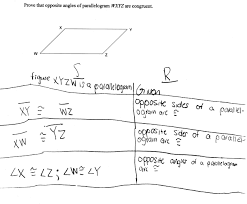 proving parallelogram angle congruence students are asked to prove