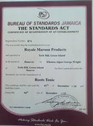 bureau of standards bureau of standards certification nanny maroon productions