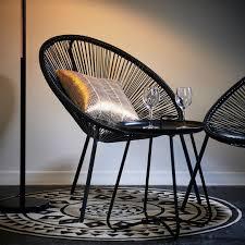 acapulco chaise acapulco chaise lounge noir h 82 x larg 76 x p 69 cm produits