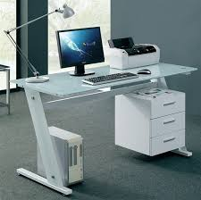 White Desk Glass Top Cool Computer Desks To Accompany You Working Anytime Traba Homes