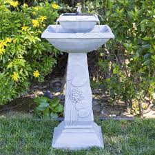Bird Solar Lights by Best Choice Products 2 Tier Solar Bird Bath Fountain With Led Lights A