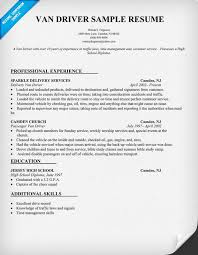 Truck Driving Resume Sample by Van Driver Resume Sample Resumecompanion Com Robert Lewis Job