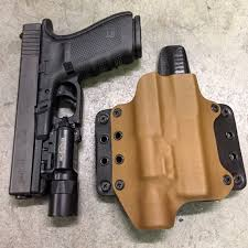 surefire light for glock 23 leather wing light mounted blackpoint tactical