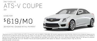 lease cadillac ats silver cadillac lease offers and specials ats cts escalade
