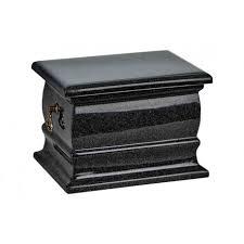 black casket black granite composite casket shape funeral cremation ashes urn for