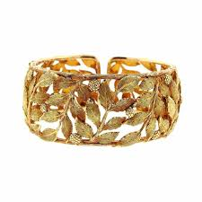 bracelet leaf images Mario buccellati classic leaves gold cuff bracelet for sale at 1stdibs jpg