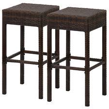 hammary hidden treasures 24 in woven backless counter wicker stool ebay