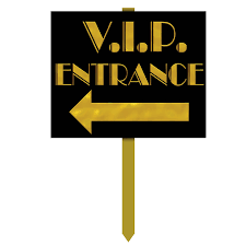 vip entrance yard sign hollywood party yards and signage