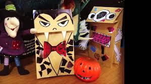 paper bag halloween luminaries diy how to make halloween paper bag puppets โดยคร แม ขว ญ youtube