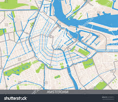 Map Of Holland Vector Color Map Amsterdam Capital Netherlands Stock Vector
