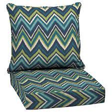 Garden Chair Seat Cushions Shop Garden Treasures Blue Flame Stitch Glenlee Blue Flame Stitch