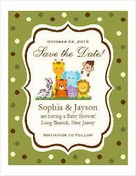 save the date baby shower jungle safari animal baby shower save the date cards pavia party