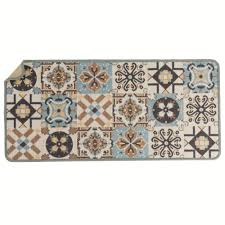 tapis de cuisine tapis cuisine motif carreaux de ciment blancheporte