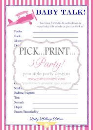baby shower game baby talk prin baby shower games babies