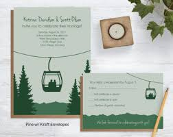 mountain wedding invitations mountain hammock wedding invites blue weddings