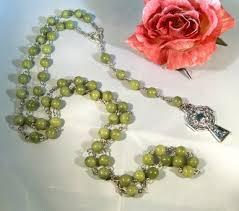 connemara marble rosary connemara marble rosary w silver cross the